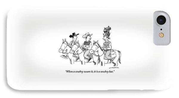 Three Cowboys On Horses IPhone Case