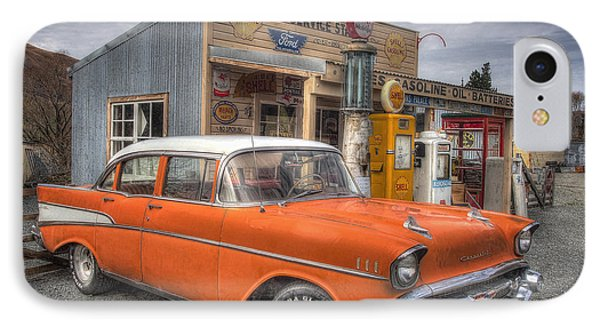 Three Creeks Service Station IPhone Case by Kim Andelkovic