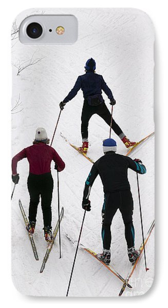 Three Cross Country Skiers. IPhone Case
