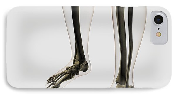 Three Dimensional View Of Human Leg Phone Case by Stocktrek Images