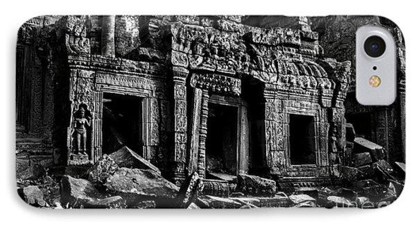Three Doorways At Ta Prohm IPhone Case by Julian Cook