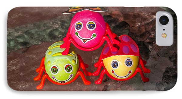 Three Easter Egg Bugs Phone Case by Sue Smith