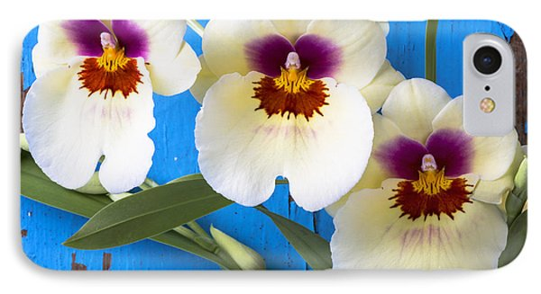 Three Exotic Orchids IPhone Case by Garry Gay