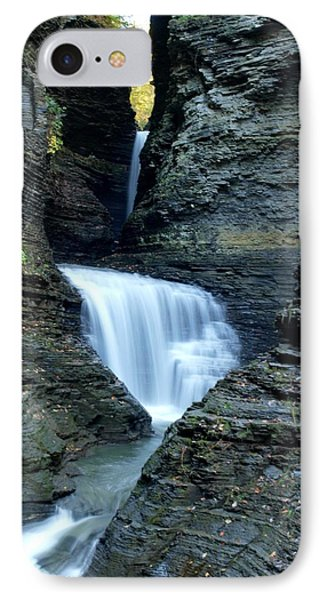 Three Falls In Watkins Glen IPhone Case by Joshua House