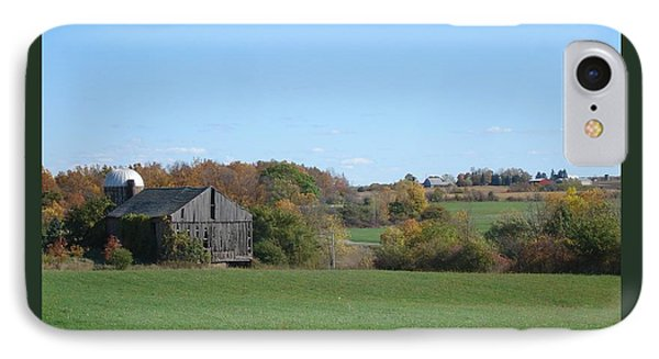 Three Farms In Autumn Phone Case by Patricia Overmoyer