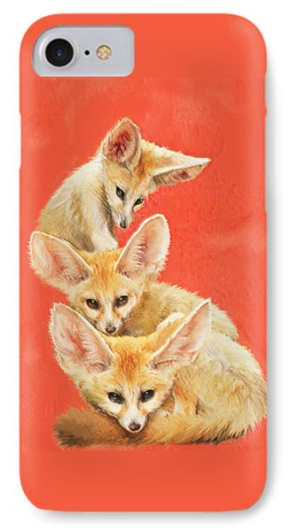 Three Fennec Foxes IPhone Case