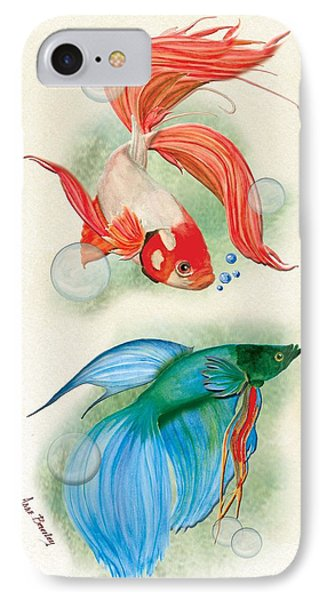Three Fish IPhone Case by Anne Beverley-Stamps