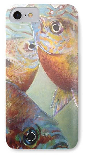 IPhone Case featuring the painting Three Fish by Jan Swaren