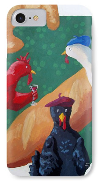 Three French Hens IPhone Case by Whitney Morton