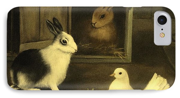 Three Friends Sharing A Moment IPhone Case by Hazel Holland