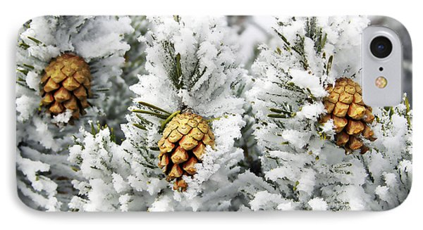 Three Frosty Cones Phone Case by Marilyn Hunt
