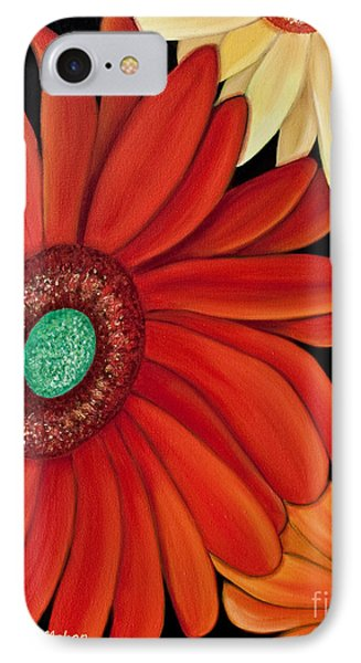 IPhone Case featuring the painting Three Gerbera by Barbara McMahon