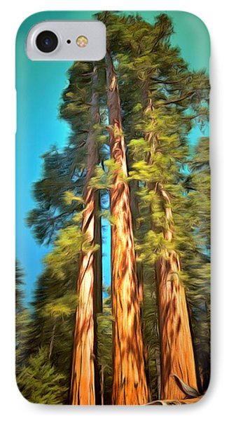 Three Giant Sequoias Digital IPhone Case by Barbara Snyder