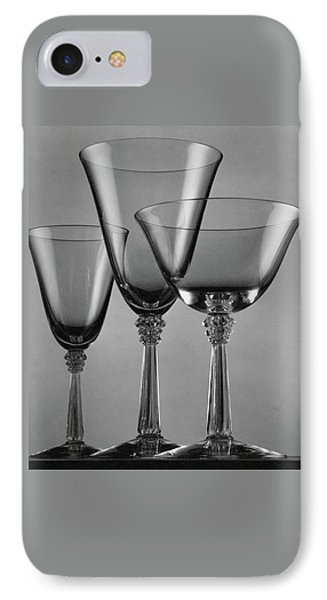 Three Glasses By Fostoria IPhone Case by Peter Nyholm