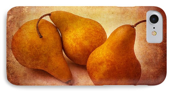 Three Gold Pears IPhone Case by Garry Gay