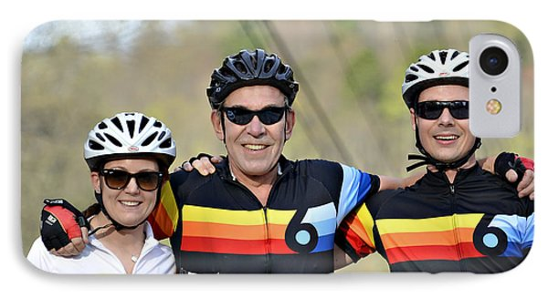 Three Gran Fondo Riders Phone Case by Susan Leggett