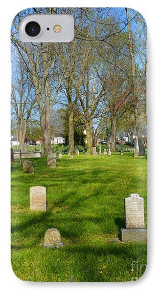 Three Gravestones Phone Case by Alys Caviness-Gober