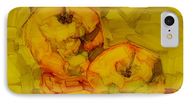 Three Green Apples Modern Art IPhone Case by Patricia Awapara