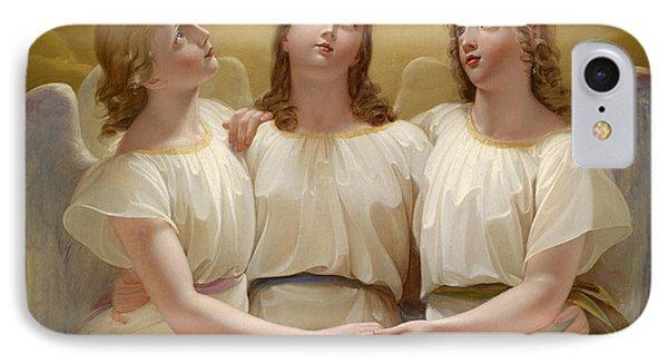 Three Guardian Angel IPhone Case by Franz Kadlik