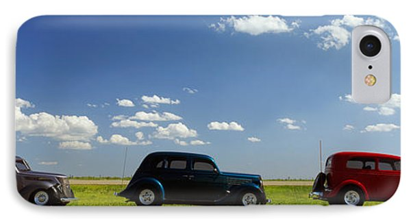 Three Hot Rods Moving On A Highway IPhone Case