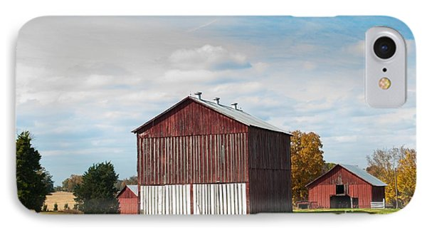 IPhone Case featuring the photograph Three In One Barns by Debbie Green
