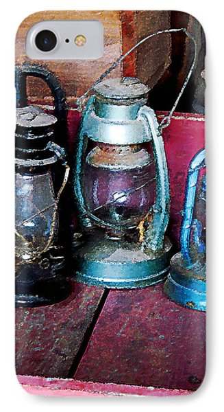 Three Kerosene Lamps Phone Case by Susan Savad