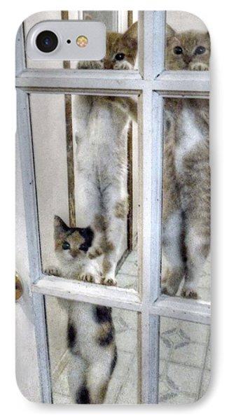 Three Kitten Door Deco IPhone Case