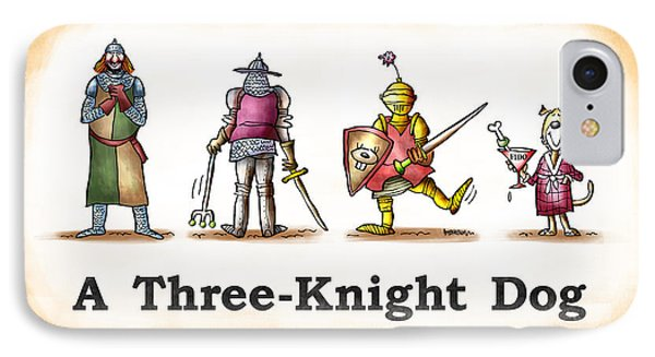 Three Knight Dog Phone Case by Mark Armstrong