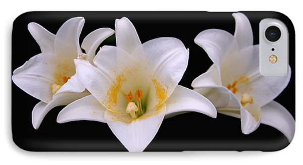 IPhone Case featuring the photograph Three Lilies by Andy Lawless