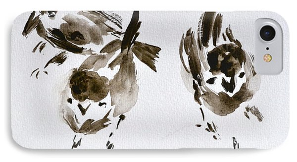 Three Little Birds Perch By My Doorstep IPhone Case by Beverley Harper Tinsley