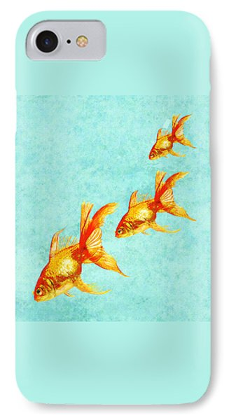 Three Little Fishes IPhone Case by Jane Schnetlage