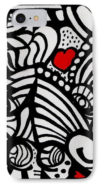 Three Little Hearts  Phone Case by Carrie Stewart