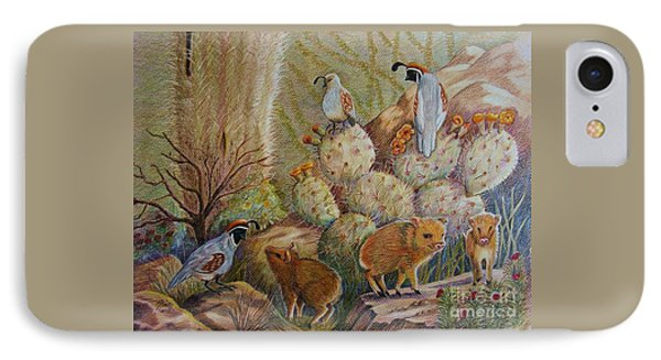 Three Little Javelinas IPhone Case by Marilyn Smith