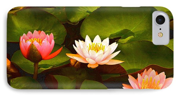 Three Lovely Gracious Waterlilies Phone Case by Byron Varvarigos