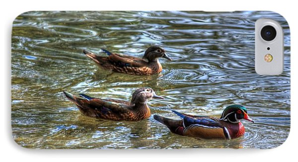 IPhone Case featuring the photograph Three Mallard Ducks by Donald Williams