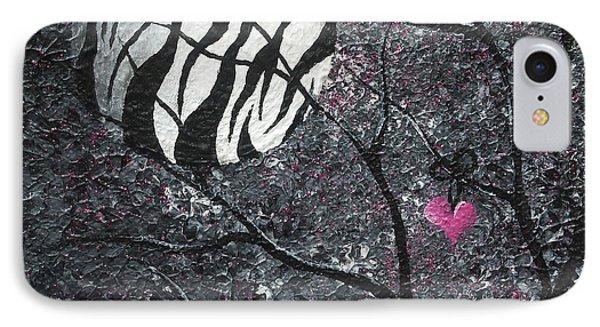 Three Moons Series - Zebra Moon Phone Case by Oddball Art Co by Lizzy Love