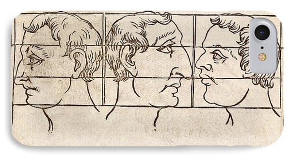 Three Nose Types IPhone Case by Middle Temple Library