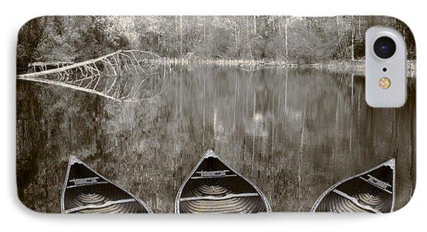 Three Old Canoes Phone Case by Debra and Dave Vanderlaan