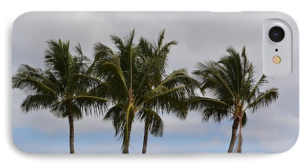 Three Palm Trees IPhone Case by P S