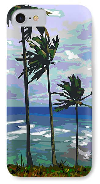 Three Palms IPhone Case by Douglas Simonson