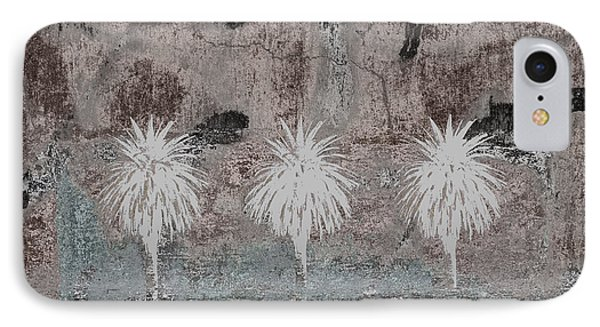 Three Palms Oasis IPhone Case by Carol Leigh
