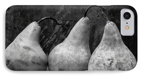 Three Pear Still Life Black And White IPhone Case