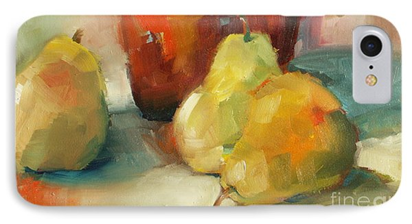 Three Pears And A Pot IPhone Case by Michelle Abrams