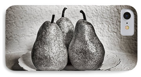 Three Pears On A Plate IPhone Case by James David Phenicie