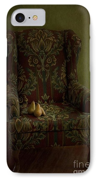 Three Pears Sitting In A Wing Chair Phone Case by Priska Wettstein