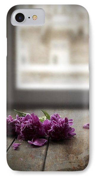 Three Pink Peonies On The Wooden Table IPhone Case