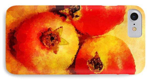 Three Pomegranates Phone Case by Mary Machare