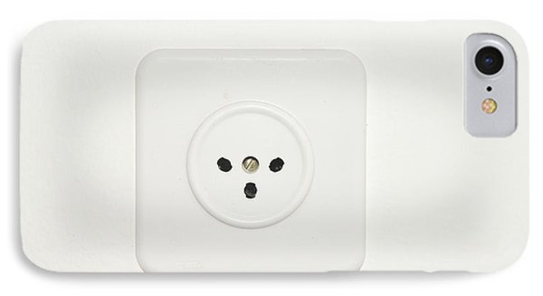 Three Prong Electric Socket IPhone Case by Photostock-israel
