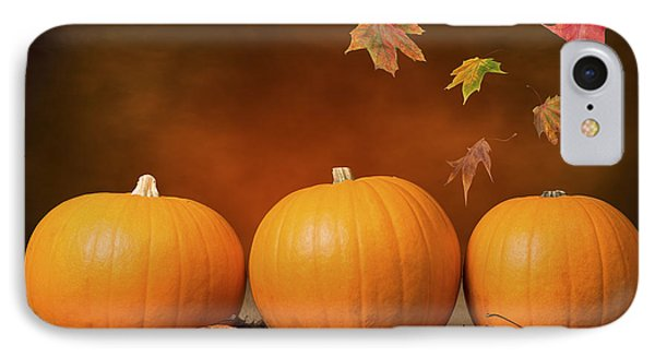 Vegetables iPhone 7 Case - Three Pumpkins by Amanda Elwell