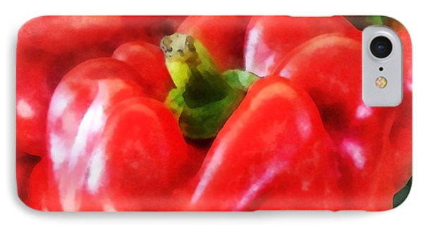 Three Red Peppers Phone Case by Susan Savad